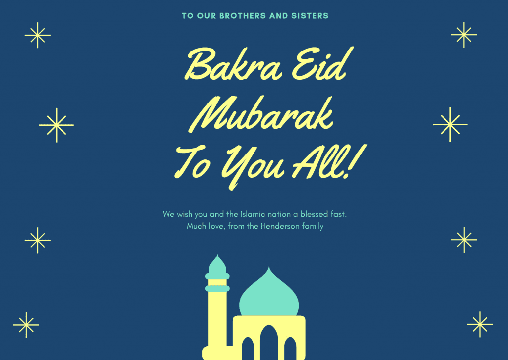 Bakra Eid Mubarak 2020