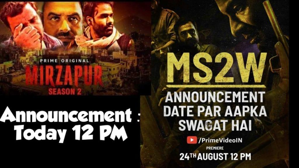 Mirzapur season 2,Mirzapur season 2 Release Date