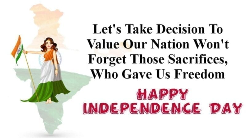 Happy Independence Day of India 2020 Wishing and Greeting Card
