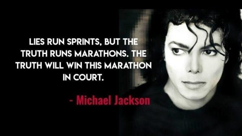 Michael Jackson Quotes on Marathon