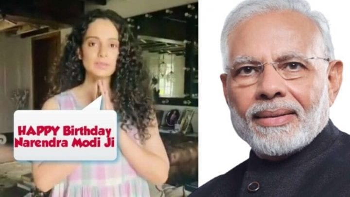 Kangana Ranaut wishes Happy Birthday to PM Narendra Modi, Narendra Modi Birthday