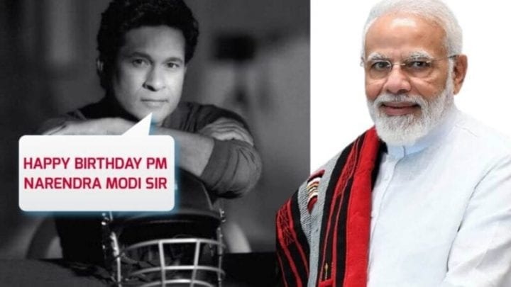 Sachin Tendulkar Wishes Happy Birthday to PM Narendra Modi, Narendra Modi Birthday, Sachin Tendulkar