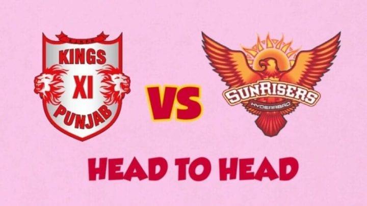 SRH vs KXIP Head to Head,SRH vs KXIP,Head to Head SRH vs KXIP,KXIP vs SRH Head to Head, IPL 2020,IPL