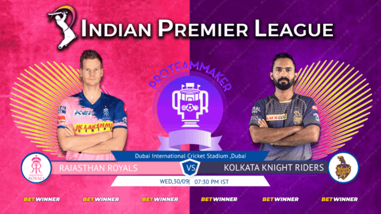 IPL 2020: RR vs KKR Dream11 Team Prediction, Playing 11, Squad, Fantasy Cricket Tips, Weather Forecast, Pitch Report and Rajasthan Royals vs Kolkata Knight Riders